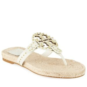 Tory Burch Studded Leather Espadrill sandals